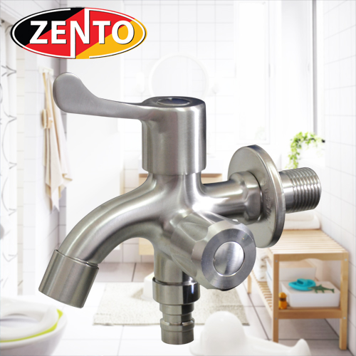 Vòi xả lạnh inox304 đa năng 2 đầu Zento SUS722